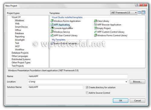 Создание простого WPF-приложения